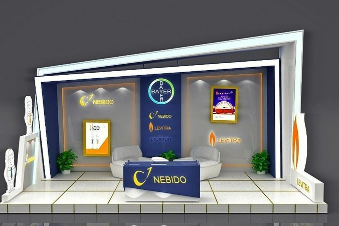 Exhibition Booth 3D CGTrader