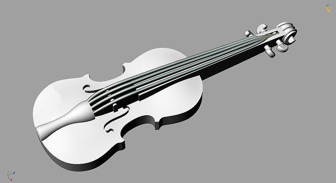Violin 3D Print Model CGTrader