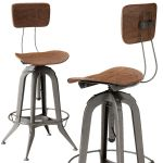 Bar Stool Modern Restoration Hardware Collection 3d
