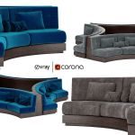 Booth Seating Round Sofa For Luxury Restaurant 3d Model 2