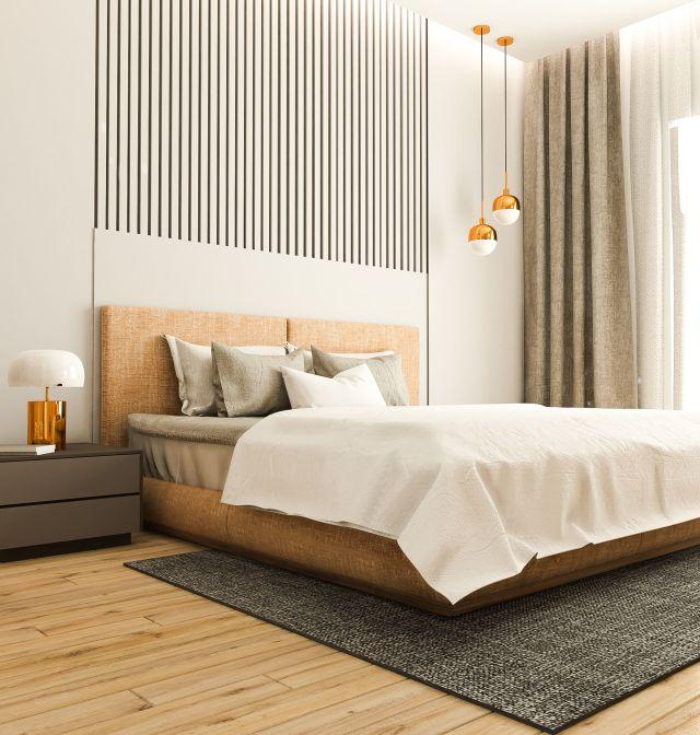 Modern Bedroom Interior Scene Vray render 3d model