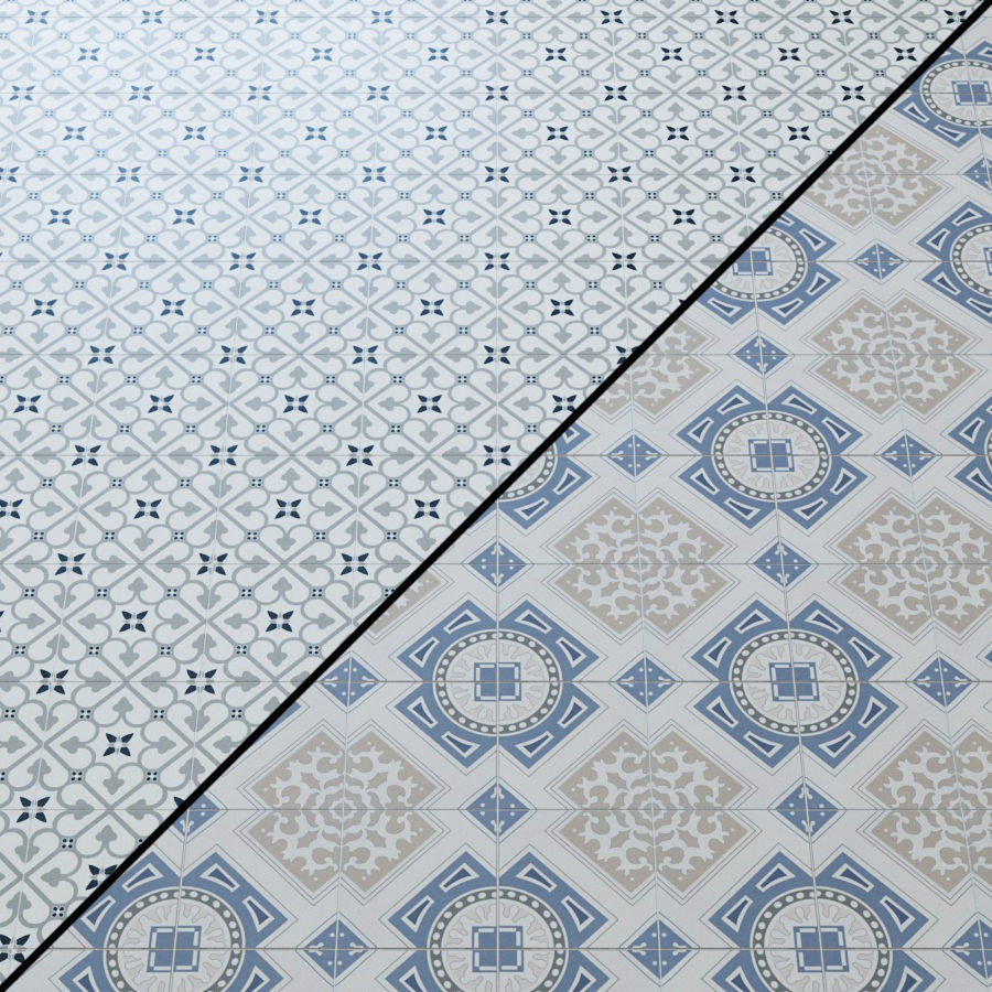 adessiroyal blue matte porcelain tile 3d model