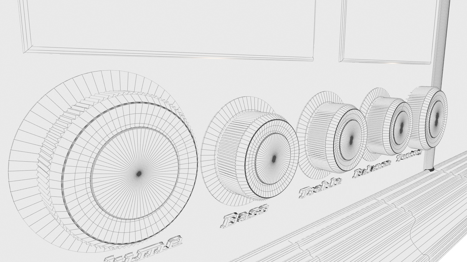 Old Time Radio 3d Model Max