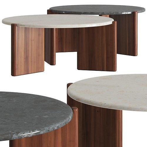 cb2 exclusive santoro quartz coffee tables 3d model