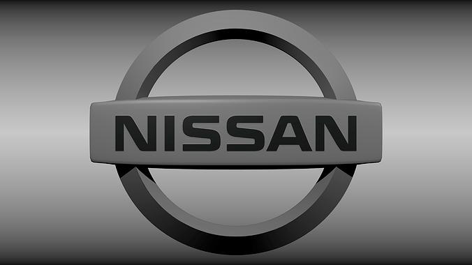Nissan Logo 3D Model CGTrader