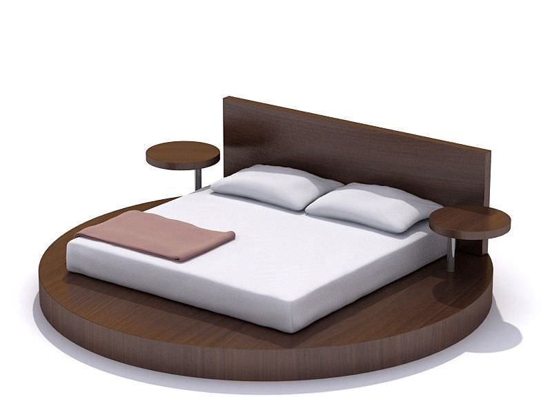 Modern Bedroom Set Bed Night Tables 3D model   CGTrader modern bedroom set bed night tables 3d model 1