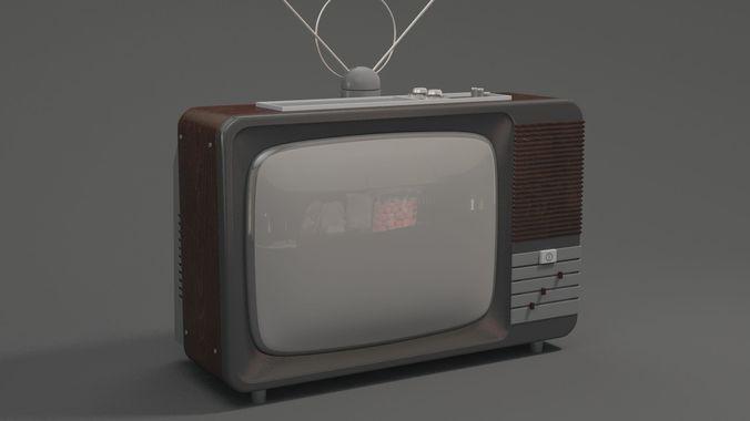 Old Tv 3D CGTrader
