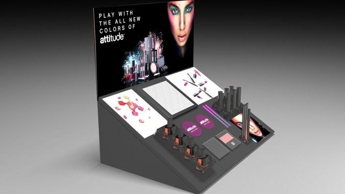 3D Model Cosmetic Display CGTrader