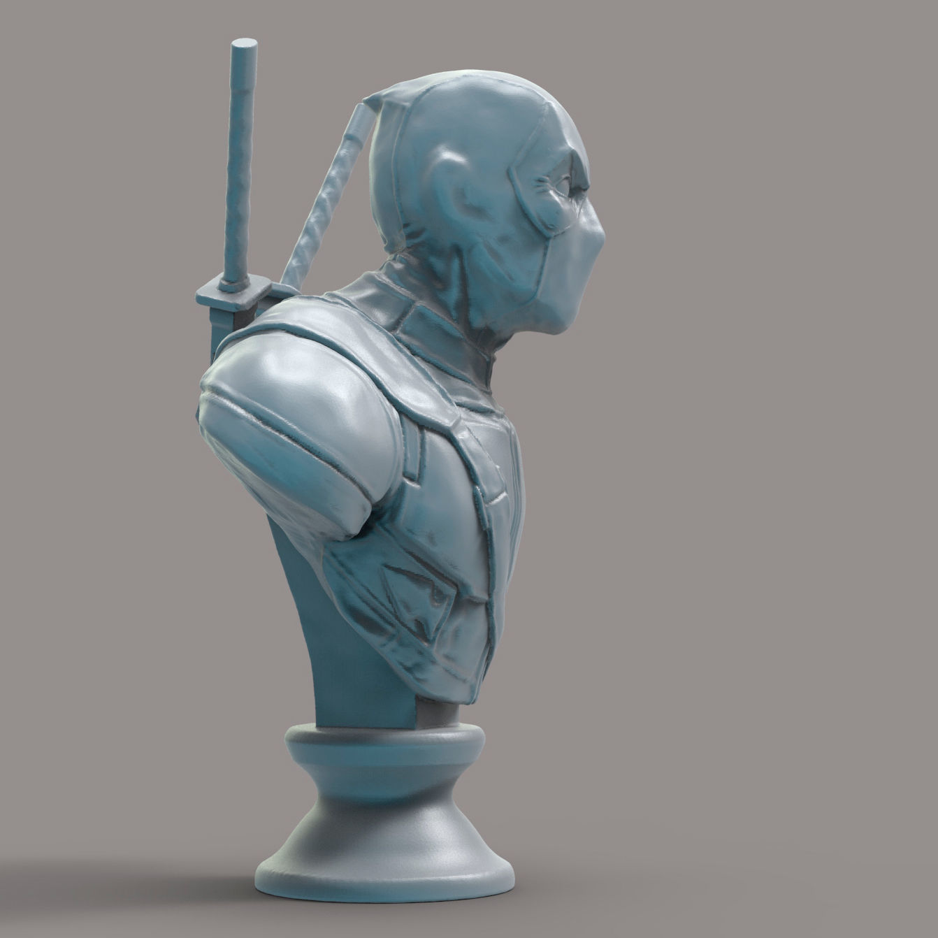 Deadpool 3d Model 3d Printable Max Obj Fbx Ma Mb Stl Ztl