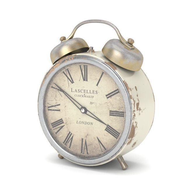 Old Alarm Clock Cgtrader