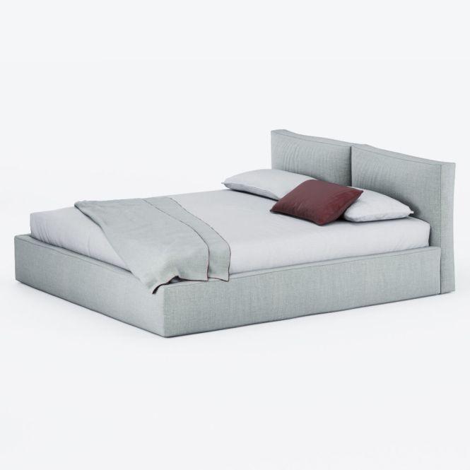 Brick Super King Size Bed Model Max Obj Fbx Mtl Tga 4