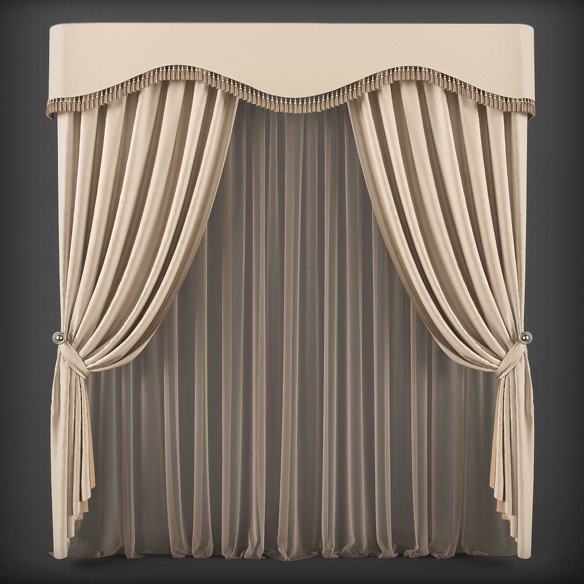 Game Ready Curtain 3d Model 231 Cgtrader