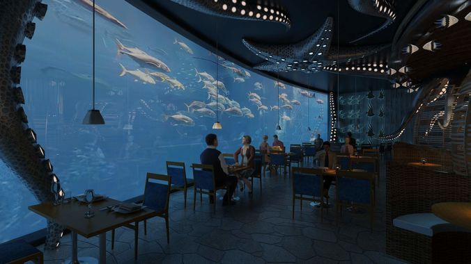 3D Model Underwater Restaurant CGTrader