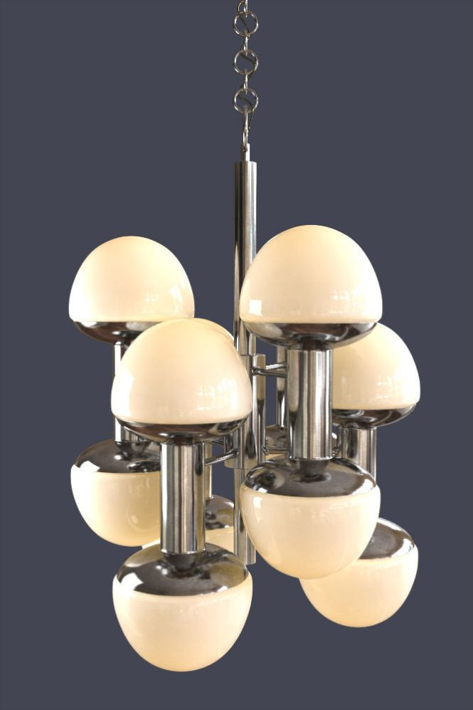 Large Chandelier Chrome By Reggiani Model Max 2