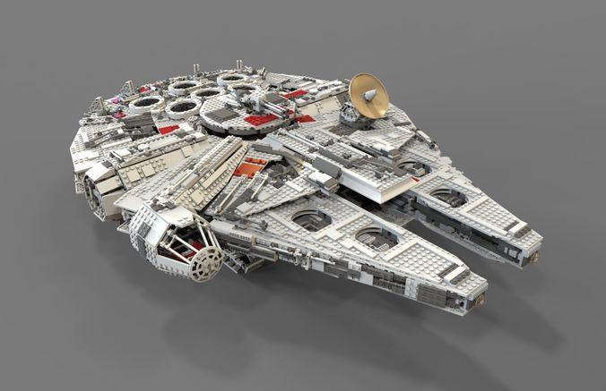 Lego Spaceship 3D CGTrader