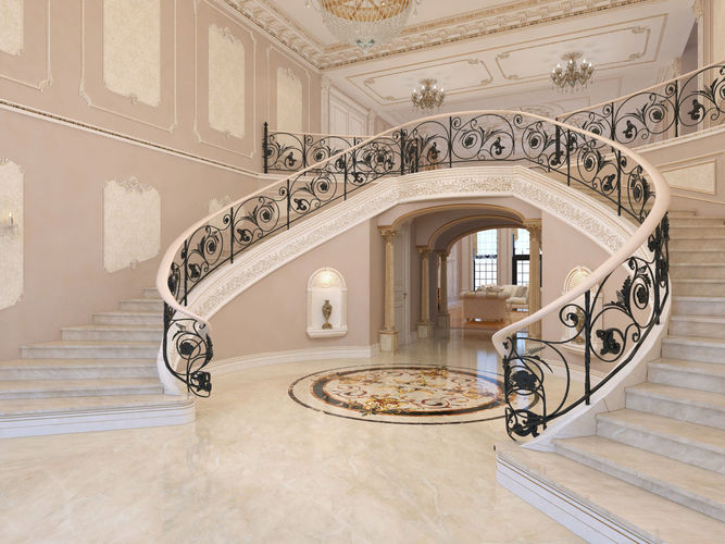 Interior classical mansion 2 3D model   CGTrader Interior classical mansion 2 3D model