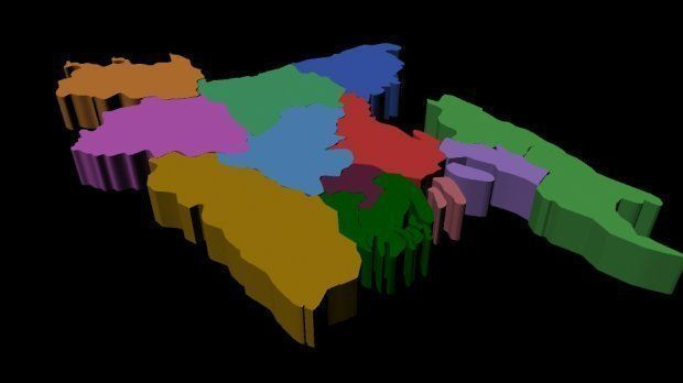 3d Bangladesh Map   CGTrader 3d bangladesh map 3d model obj 1