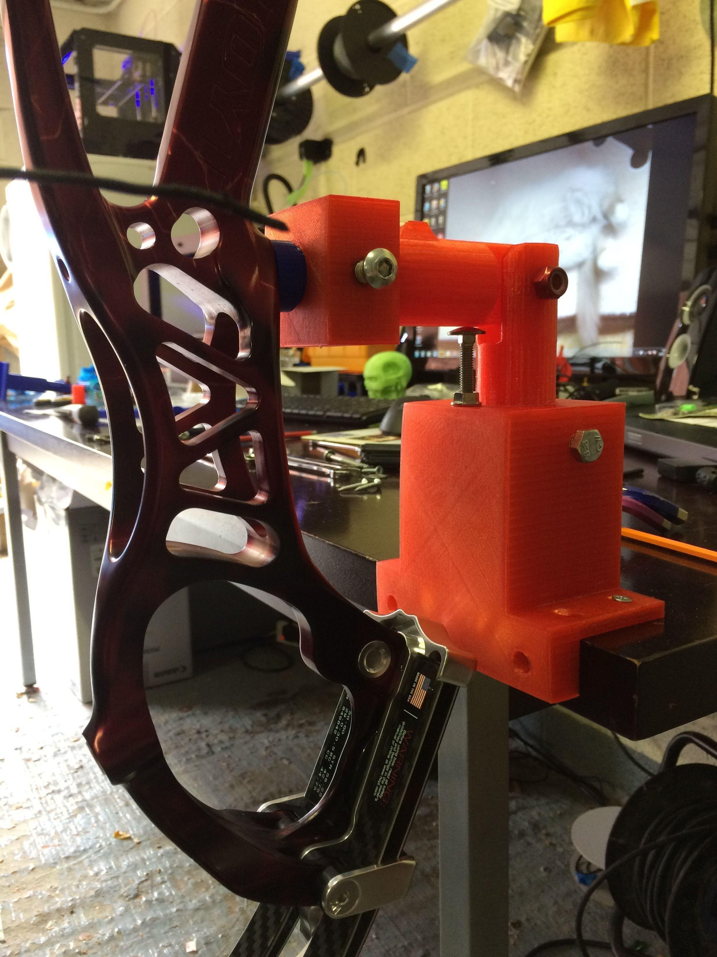 Compound Or Recurve Bow Vice 3D Model 3D Printable STL