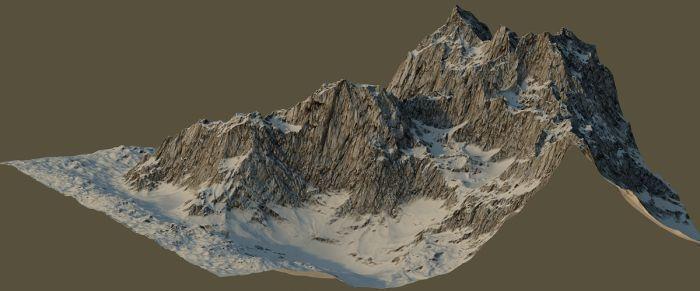 Precision Mountain 3D Model MAX