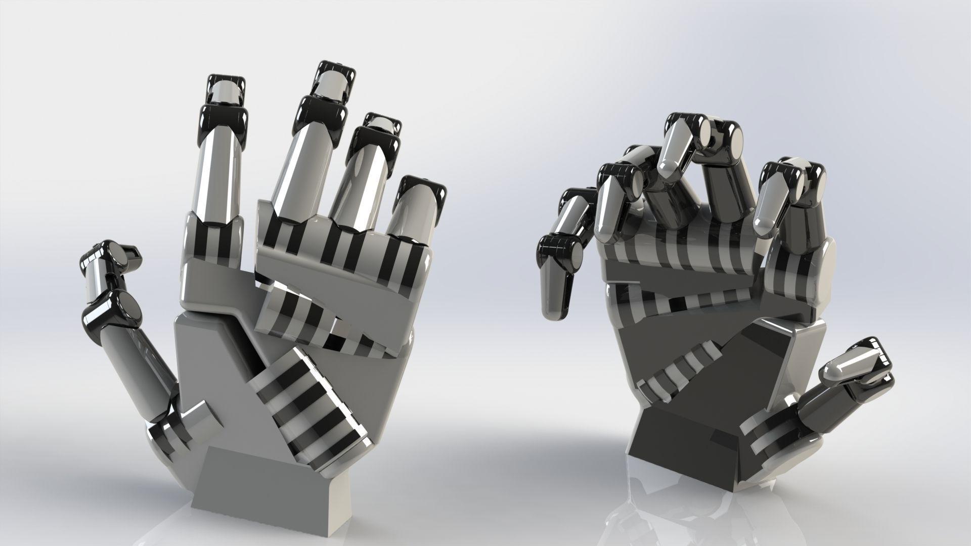 Robot 3D Model Robotic Hand CGTrader