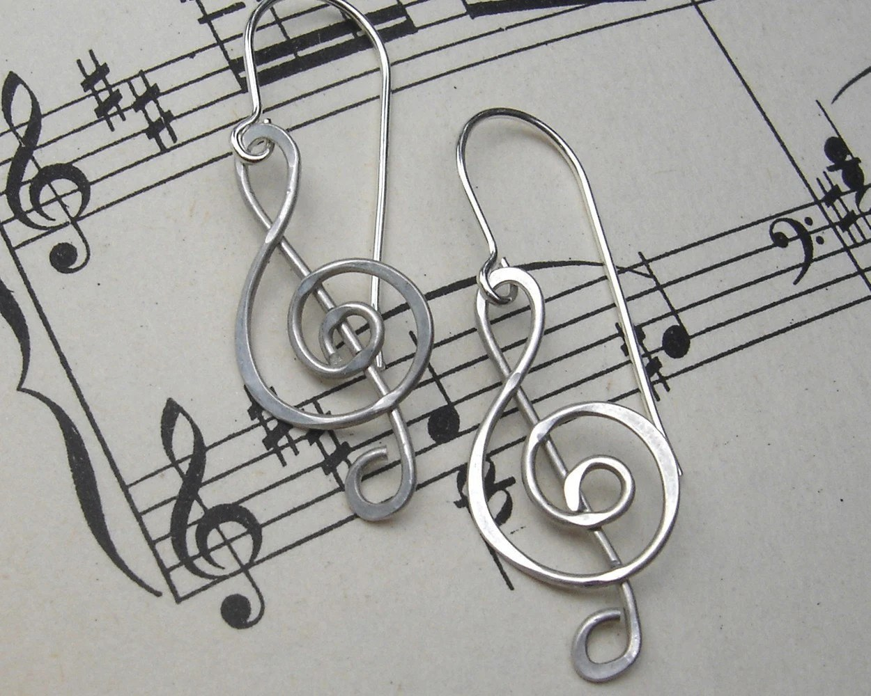 Treble Clef Earrings G Clef Musicians T Music Jewelry