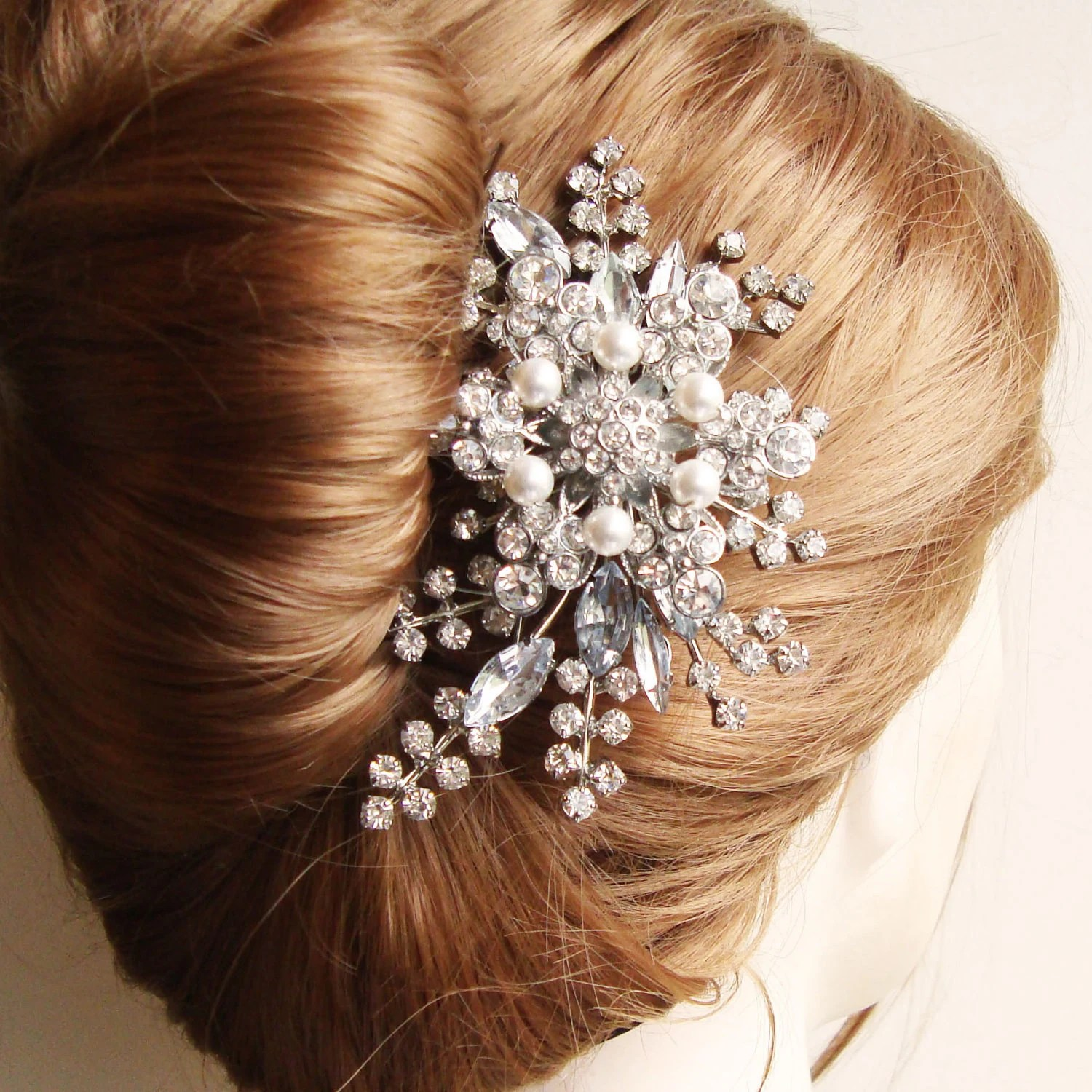 Rhinestone Hair Comb Bridal Hair Comb French Twist Comb