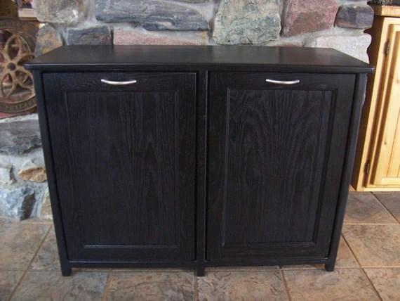 Double Trash Bin Cabinet Home Decor
