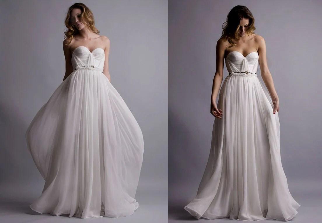 Annie Wedding Gown Silk Hand Gathered Bustier By