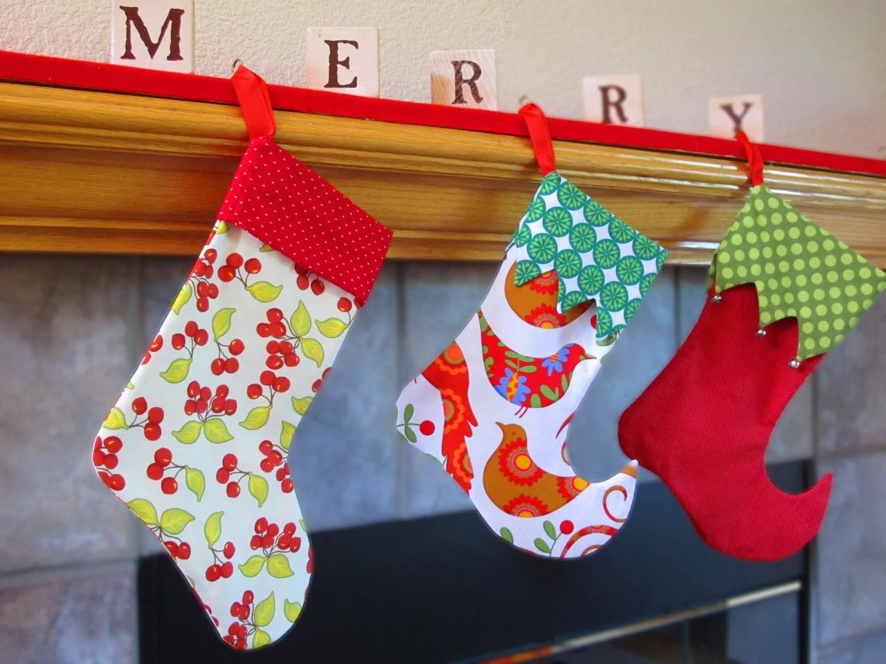 Stocking Sewing Pattern 2 Styles 2 Sizes Elf And