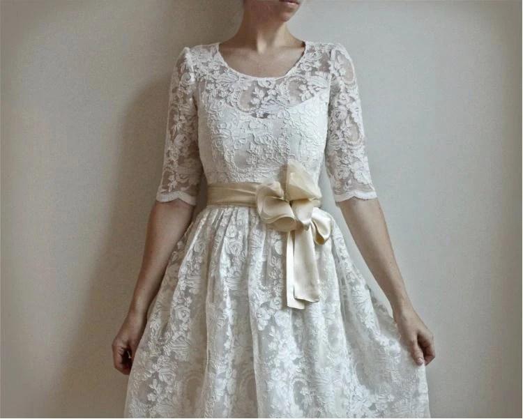 two piece handmade wedding dress