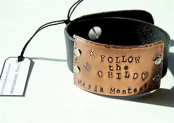 Montessori Jewelry Cuff Bracelet Follow the Child