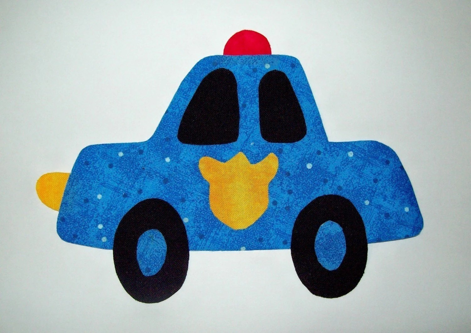 Fabric Applique Template Only Police Car