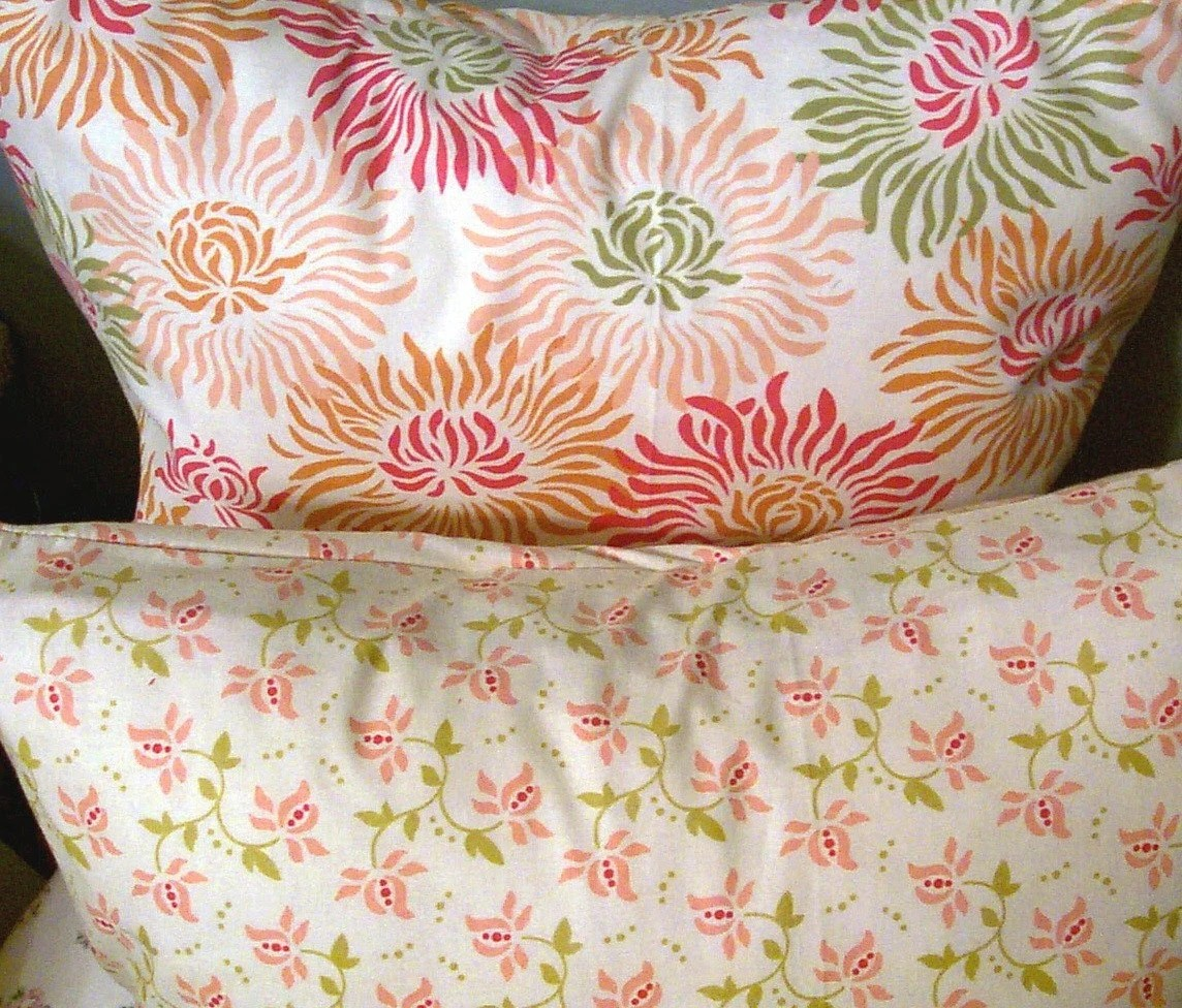 Heather Bailey Fabric Pillow Cover - 16 x 16 Pillow Covers - Floral Pillow Cover - Spring Pillow covers - Grubs