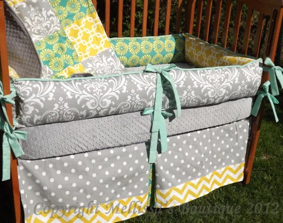Custom Grey With Teal And Yellow Accent 4-Piece Complete