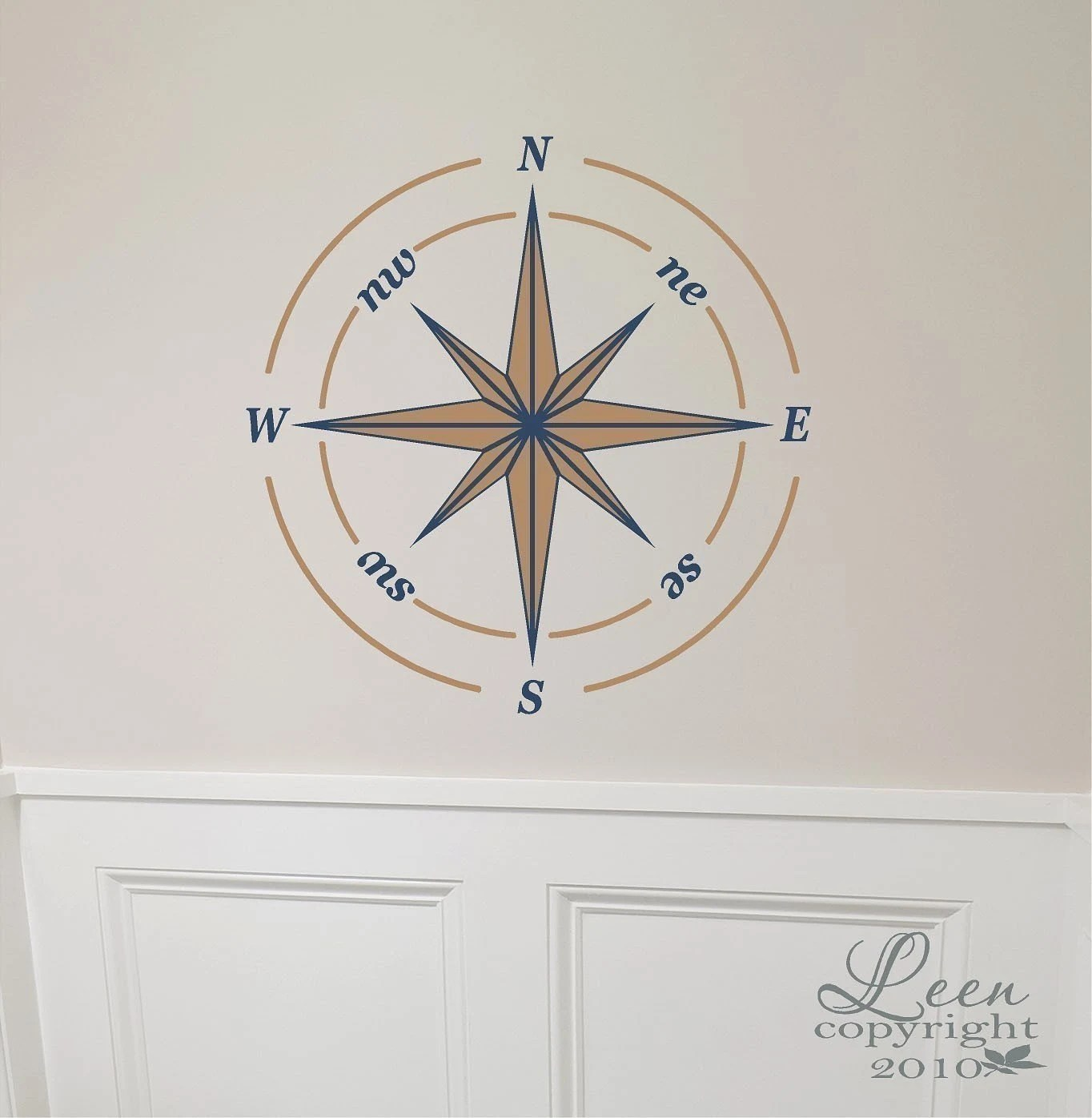 Nautical Compass Rose Decal Removable By Leenthegraphicsqueen