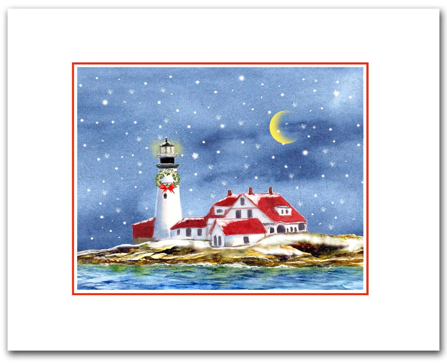 Portland Head Lighthouse 10 Christmas Cards Maine