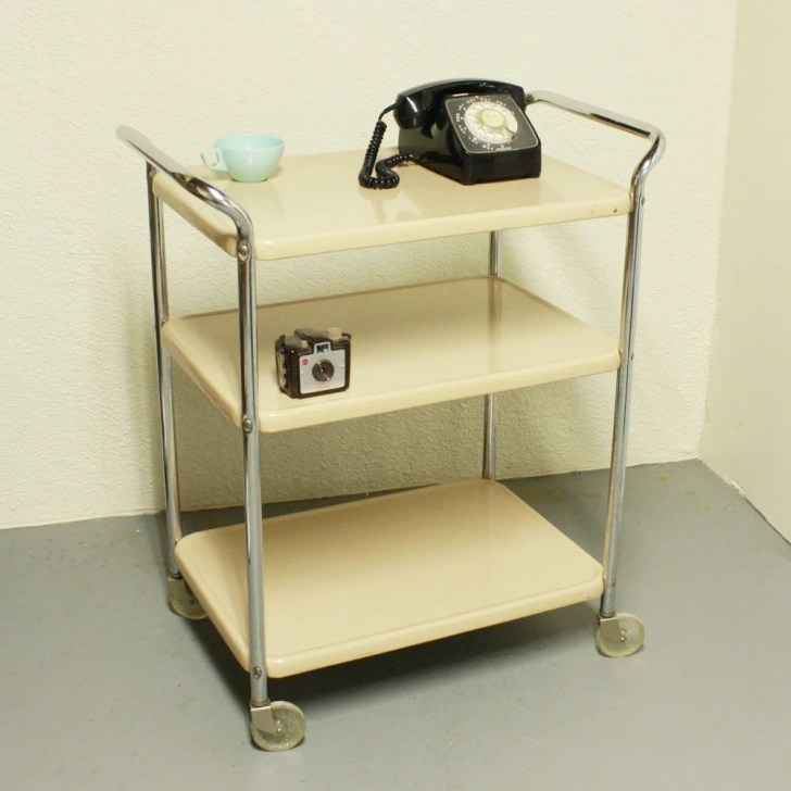 Vintage Metal Cart Serving Kitchen Cosco Stylaire