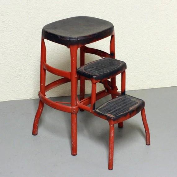 Magnificent Black Step Stool Chair Bonat Ullman Convertable Hair Dryer Spiritservingveterans Wood Chair Design Ideas Spiritservingveteransorg