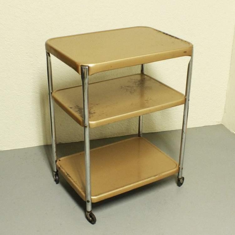 Vintage Metal Cart Serving Kitchen Oldcottonwood