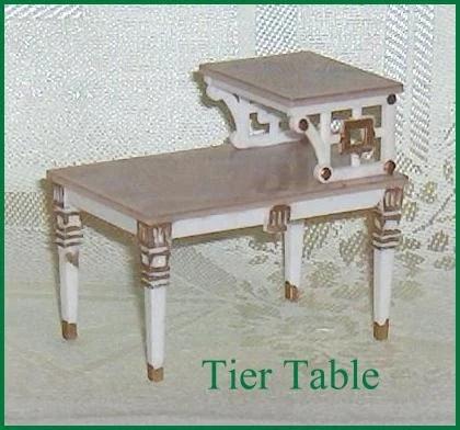 Petite princess hard plastic tier table ideal dollhouse - Petite table haute ...