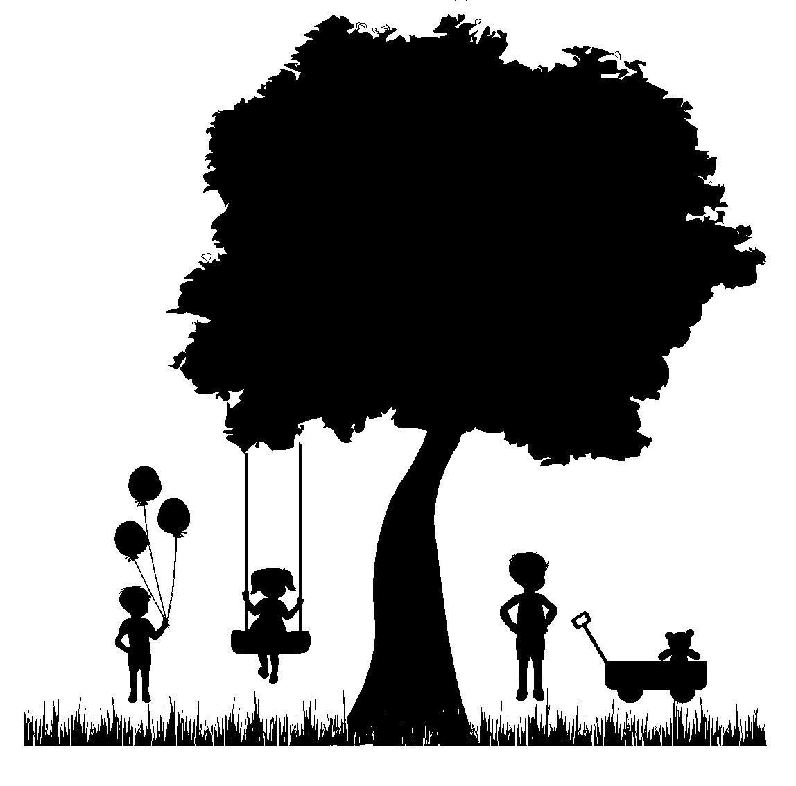 Tree With Swing Clipart