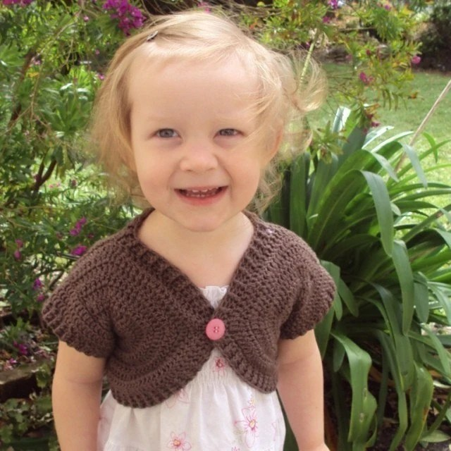 Download Now - CROCHET PATTERN Shortie Sweater - Baby to Adult - Pattern PDF