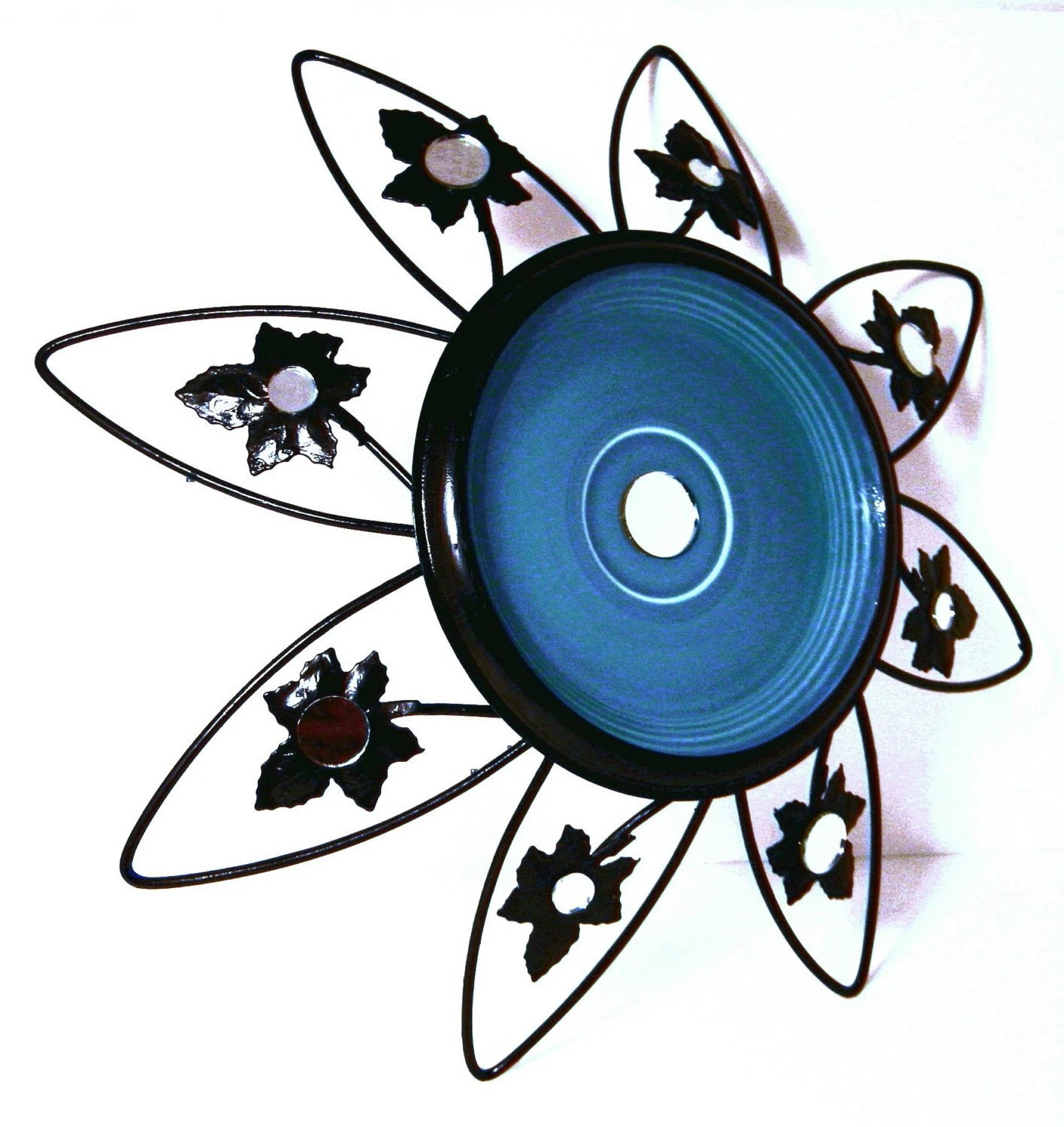 Black Widow Black and Blue Metal Wall Hanging - gilstrapdesigns