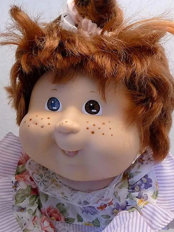 Kathleen Louise 1980s CABBAGE PATCH Doll Big Bright Brown