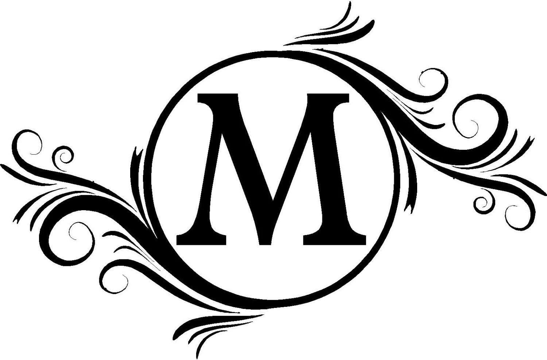 H Monogram Initials Clip Art