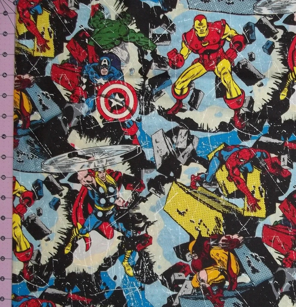 Marvel breakout fabric