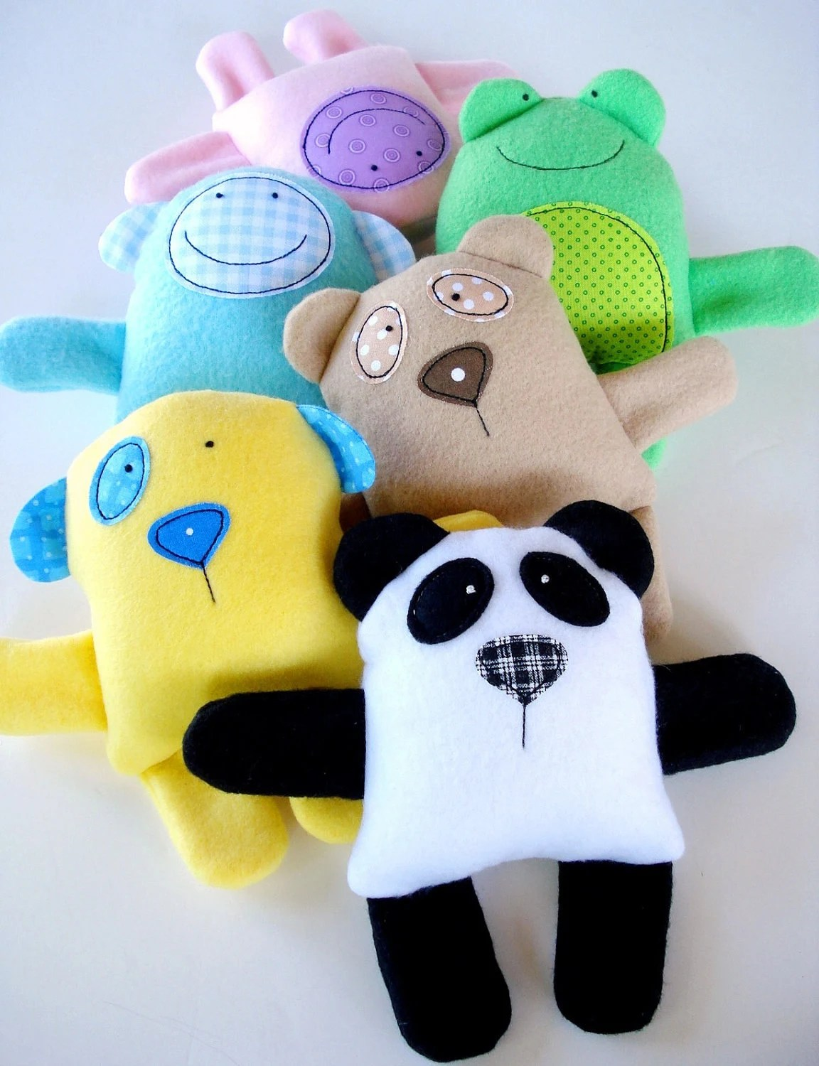 Toy Sewing Pattern Epattern For Baby Animal Softies