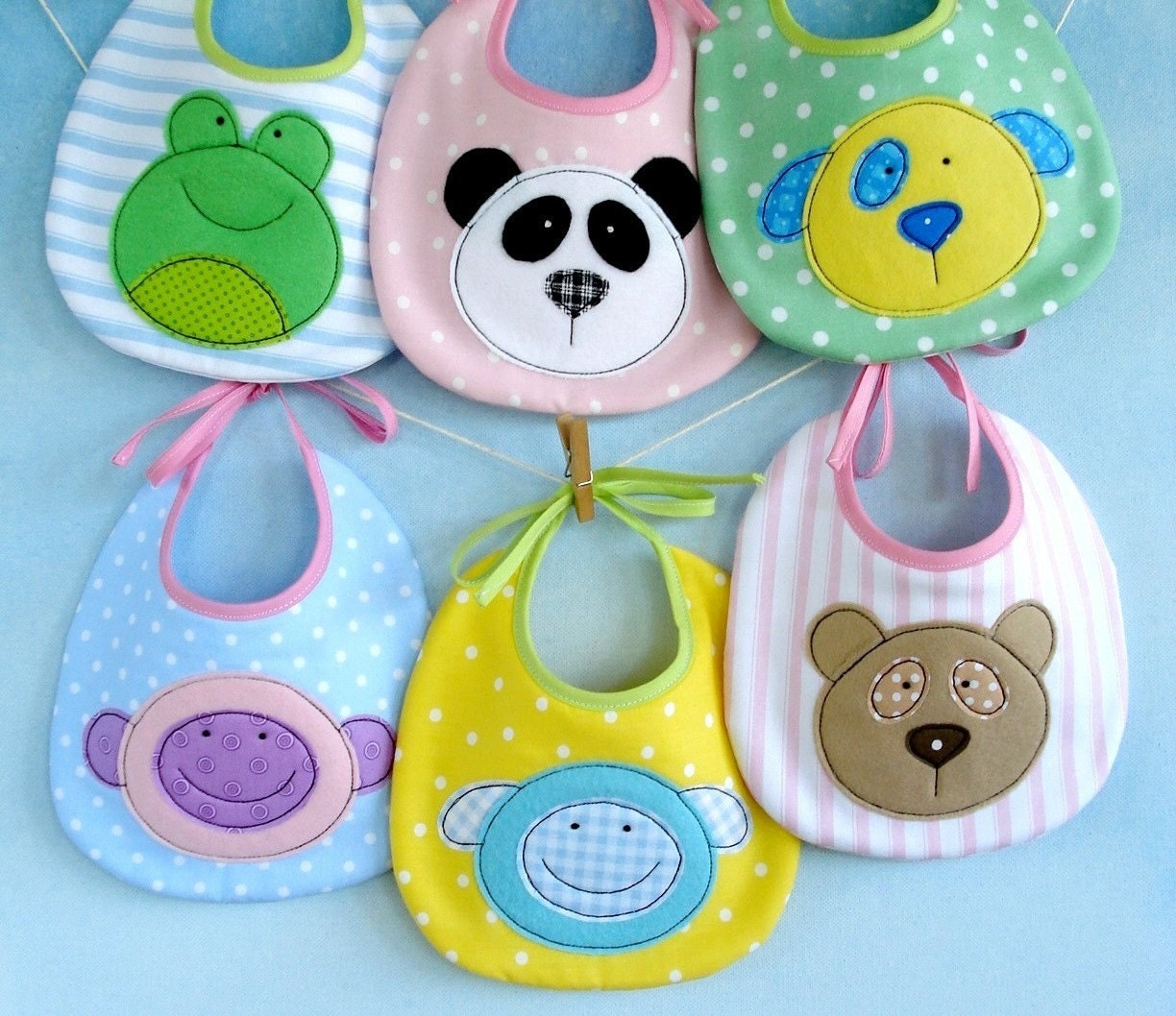 Sale Epattern For Baby Animal Appliques And Bib Teddy