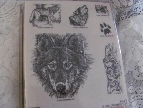 Rare Stampin Up Wolf Stamp Set