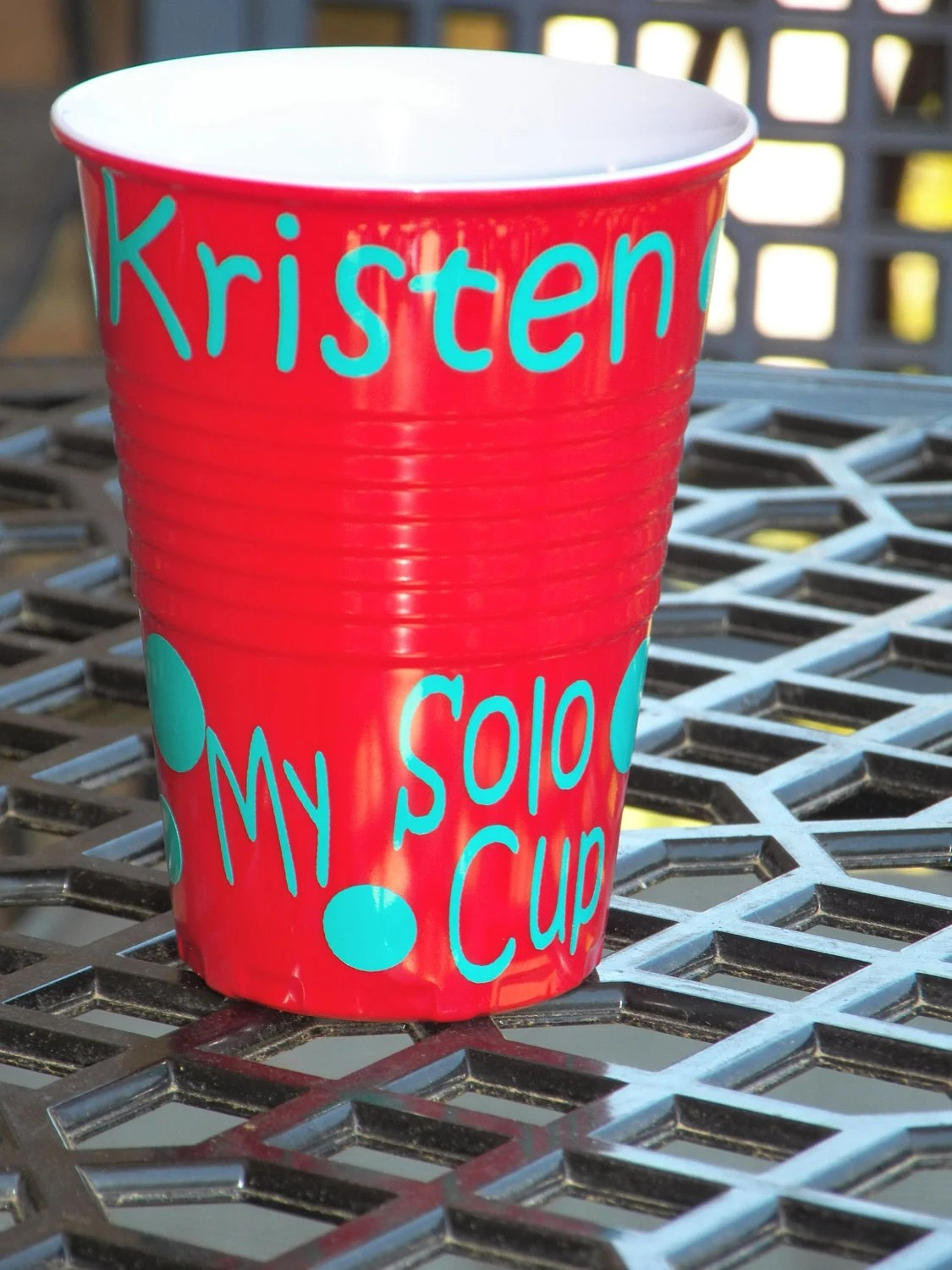 Personalized Melamine Red Solo Cup